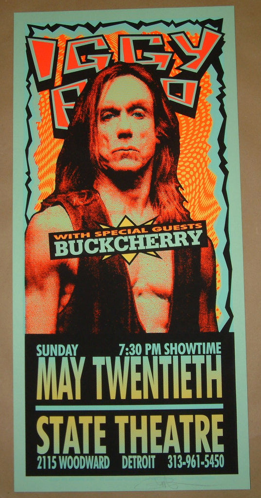 Mark Arminski Iggy Pop Detroit Poster Variant Signed 2001