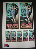 Mark Arminski David Bowie Nine Inch Nails Columbus Posters Handbills Uncut Sheet Signed 1995