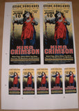 Mark Arminski King Crimson Ann Arbor Poster Handbills Uncut Sheet Signed 1995