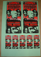 Mark Arminski Marilyn Manson Houston Poster Handbills Uncut Sheet Signed 1995