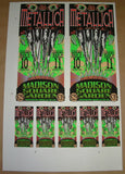 Mark Arminski Metallica New York Poster Handbills Uncut Sheet Signed 1997