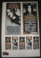 Mark Arminski Nine Inch Nails Toledo Milwaukee Poster Handbills Uncut Sheet Signed 1995