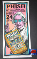 Mark Arminski Phish Pittsburgh Poster Signed Doodled 1995