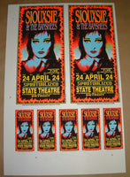 Mark Arminski Siouxsie & The Banshees Detroit Poster Handbills Uncut Sheet Signed 1995