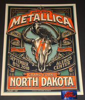Mark5 Metallica Poster Grand Forks 2018 Artist Edition