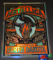 Mark5 Metallica Grand Forks Poster Foil Variant 2018 Artist Edition
