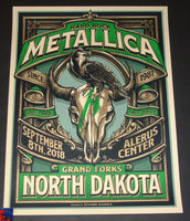 Mark5 Metallica Poster Grand Forks 2018 Green
