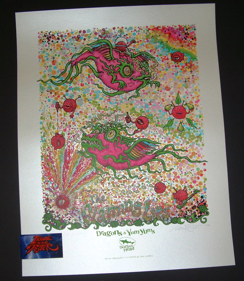Marq Spusta Dragons and YumYums Poster Flaming Lips 2018 Dogfish Head Edition