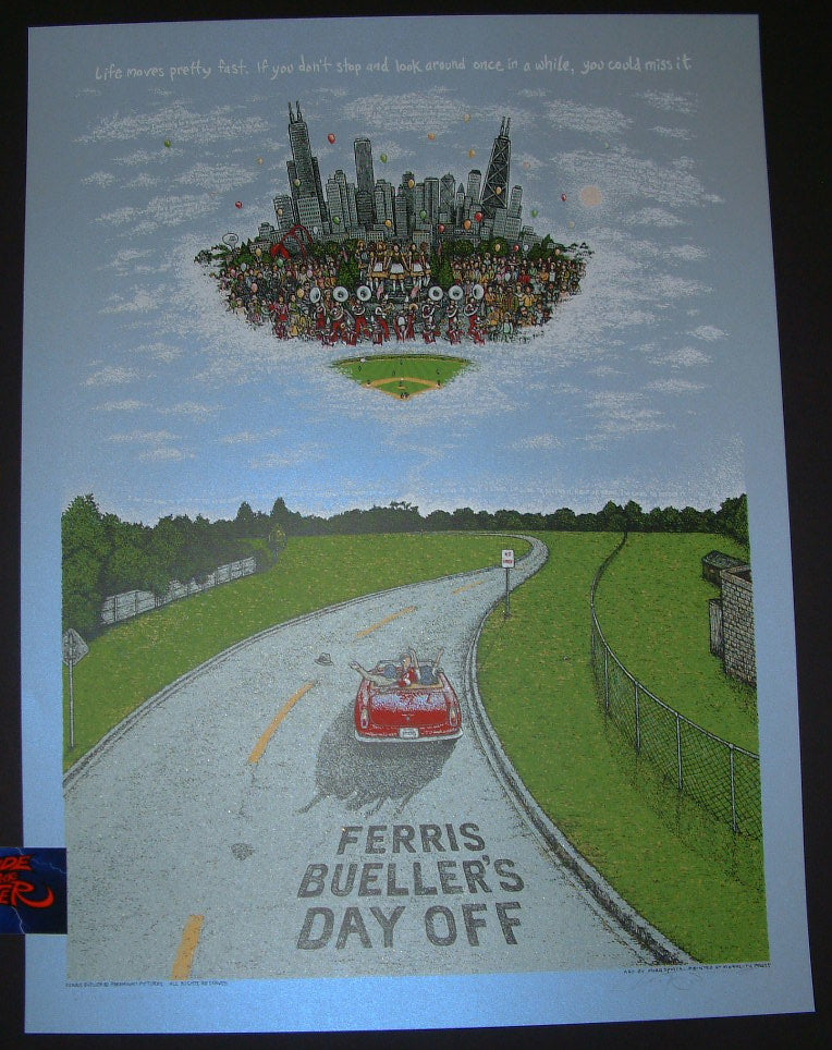 Marq Spusta Ferris Bueller's Day Off Movie Poster Opal Variant 2016