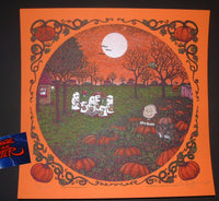 Marq Spusta Its The Great Pumpkin Charlie Brown Art Print Orange Variant 2016