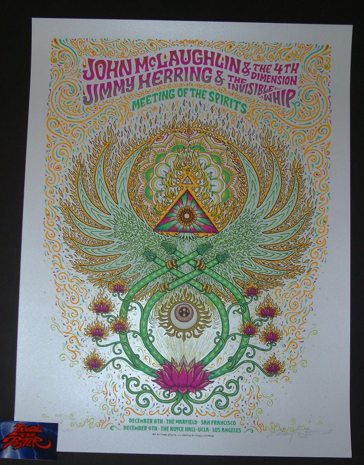 Marq Spusta John McLaughlin Jimmy Herring Poster California Tour 2017 Meeting of the Spirits