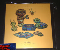 Marq Spusta Lil Listeners Gold Cosmic Cosmos Foil Art Print Variant 2016 Signed