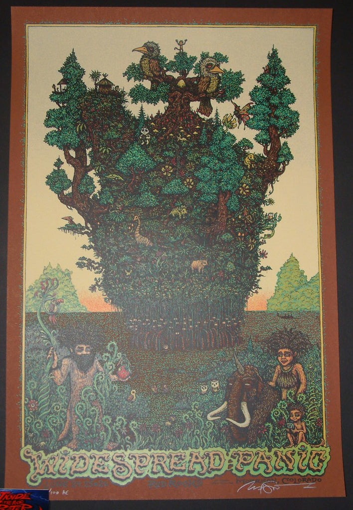 Marq Spusta Widespread Panic Poster Red Rocks 2016 Artist Edition