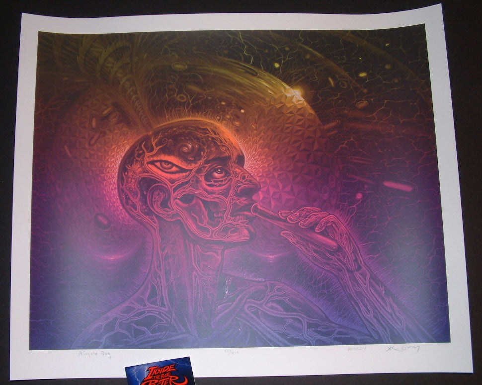 Alex Grey Mars-1 Bicycle Day Art Print 2016