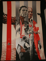 Martin Ansin Looper Movie Poster Silver Variant Mondo 2012