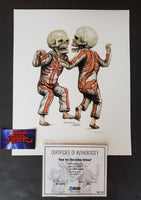 Matt Gordon Bone Trot Art Print Red Grey Variant 2012