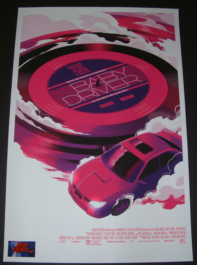 Matt Taylor Baby Driver Movie Poster Mondo 2017