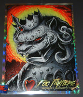 Maxx242 Foo Fighters Poster Sacramento Circular Wonder Foil Variant 2017 Artist Edition