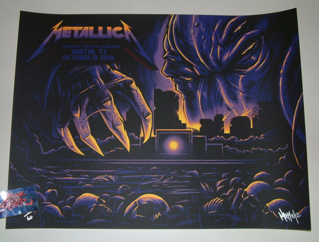 Maxx242 Metallica Poster Austin City Limits Fest Night Two 2018 Artist Edition