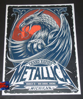 Maxx242 Metallica Grand Rapids Poster Artist Edition 2019
