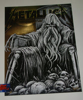 Maxx242 Metallica Lubbock Poster Gold Foil Variant Artist Edition 2019