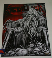 Maxx242 Metallica Lubbock Poster Red Foil Variant Artist Edition 2019