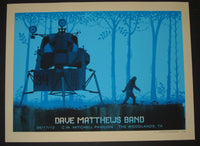 Methane Studios Dave Matthews Band Poster Woodlands 2013 Artist Edition S/N