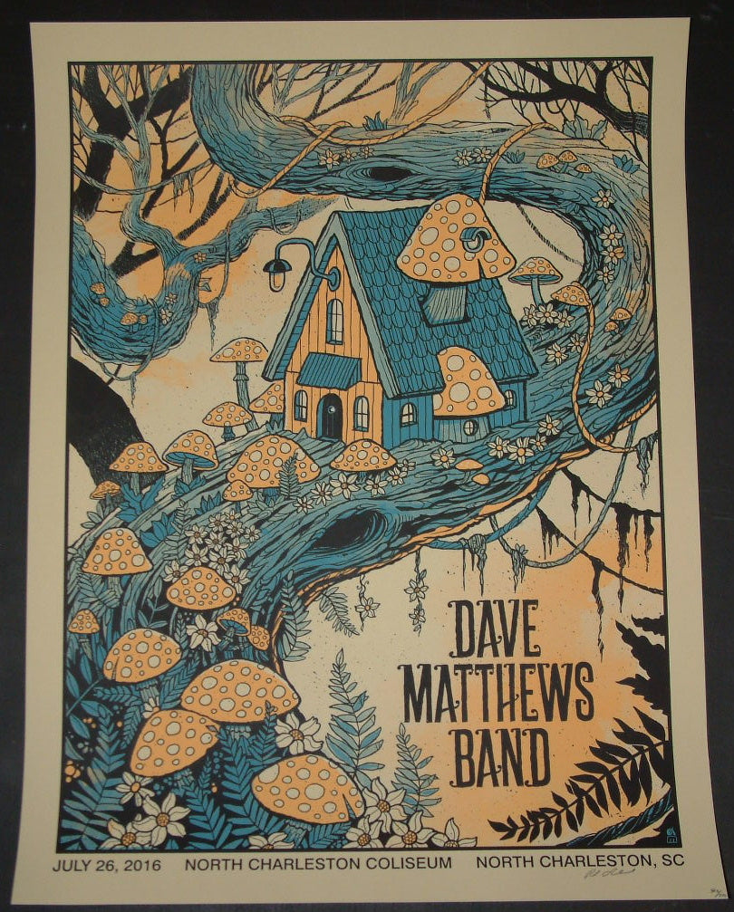 Methane Studios Dave Matthews Band Poster North Charleston 2016 Artist Edition