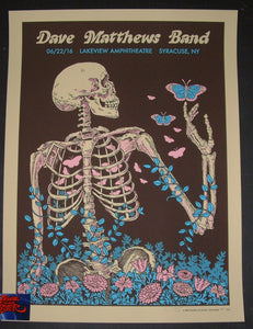 Methane Studios Dave Matthews Band Poster Syracuse 2016 Artist Edition