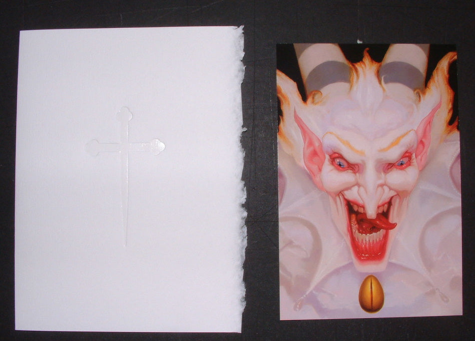Michael Hussar White Devil Mini Art Print Showcard 2010