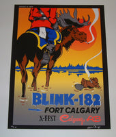 Mike Cooney Blink 182 Poster Fort Calgary X-Fest 2013 Artist Edition S/N