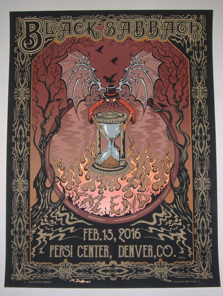 Mike Dubois Black Sabbath Denver Poster 2016 Artist Edition