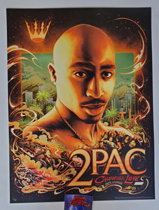 Miles Tsang 2Pac California Love Poster Gold Foil Variant 2021