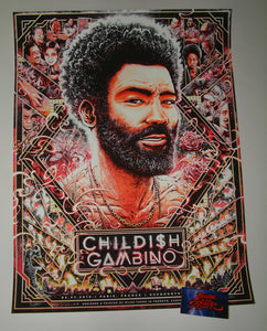 Miles Tsang Childish Gambino Paris Poster Artist Edition 2019