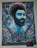 Miles Tsang Childish Gambino Paris Poster Kauai Cool Blue Variant 2019