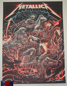 Miles Tsang Metallica Poster Chicago VIP 2017 Glow in the Dark Artist Edition S/N