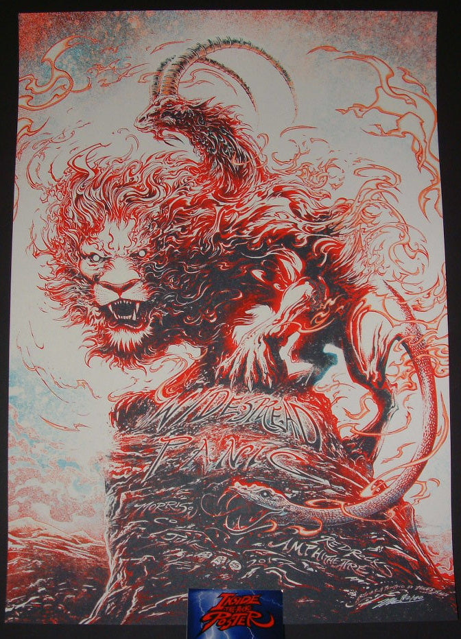 Miles Tsang Widespread Panic Poster Red Rocks 2017 Artist