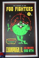 Morning Breath Foo Fighters Poster Champaign 2017 Artist Edition