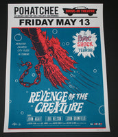 Morning Breath Revenge of the Creature Movie Poster Variant Signed AP Mondo 2013