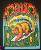Munk One 311 Poster Los Angeles Blue Variant 2017 Artist Edition
