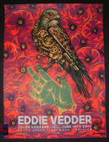 Munk One Eddie Vedder Antwerp Belgium Poster Artist Edition Purple 2017