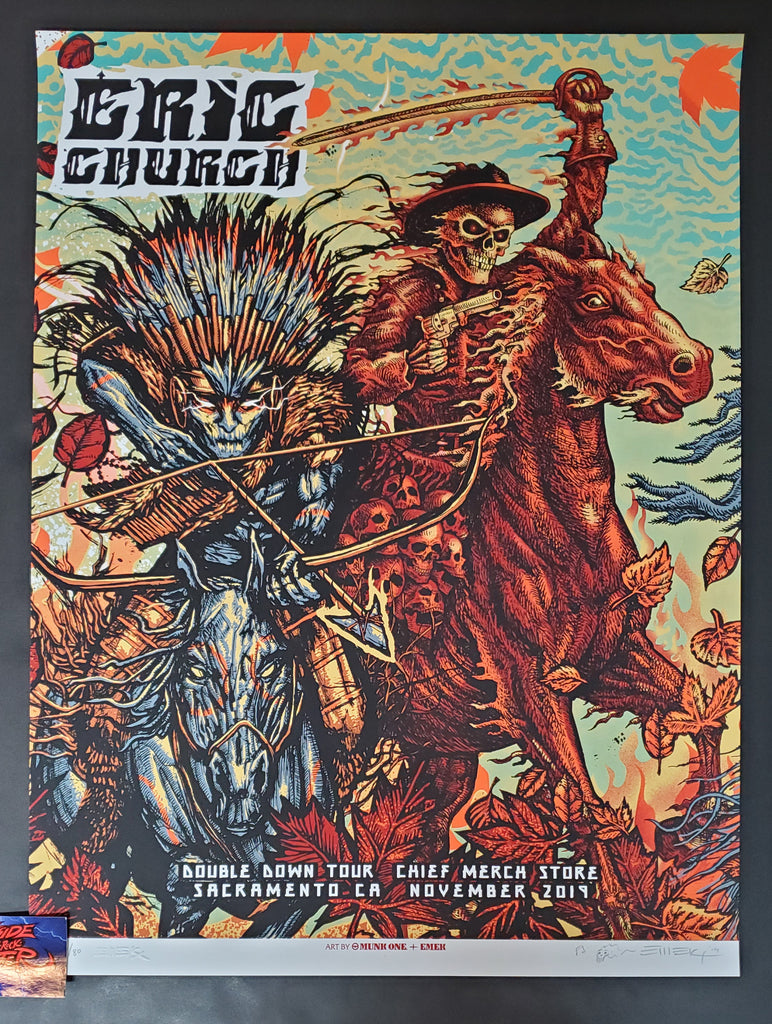 Emek Munk One Eric Church Sacramento Chief Merch Shop Poster Artist Edition 2019