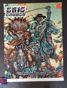 Munk One Eric Church Sacramento Poster Blue Variant Chief Merch Shop Artist Edition 2019