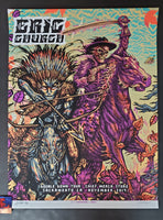 Munk One Eric Church Sacramento Poster Purple Variant Chief Merch Shop Artist Edition 2019