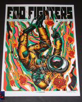 Munk One Foo Fighters Poster Camden Green Variant 2018 Artist Edition