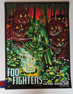 Munk One Foo Fighters Gothenburg Sweden Poster Artist Edition 2018