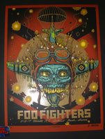 Munk One Foo Fighters Poster Wichita 2017 Artist Edition