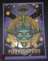 Munk One Foo Fighters Poster Wichita Purple Variant 2017