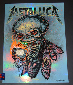 Munk One Metallica Poster Boise Rainbow Foil Variant Artist Edition 2018