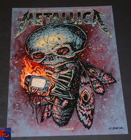 Munk One Metallica Poster Boise Red Foil Variant Artist Edition 2018